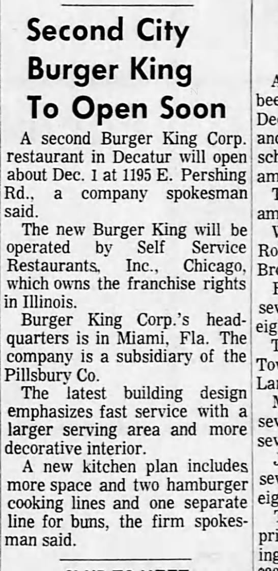 Burger King on Pershing Road in Decatur closes   Food and