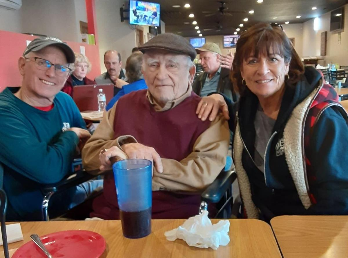 Mike and Trudy Jacobs with Ed Asner
