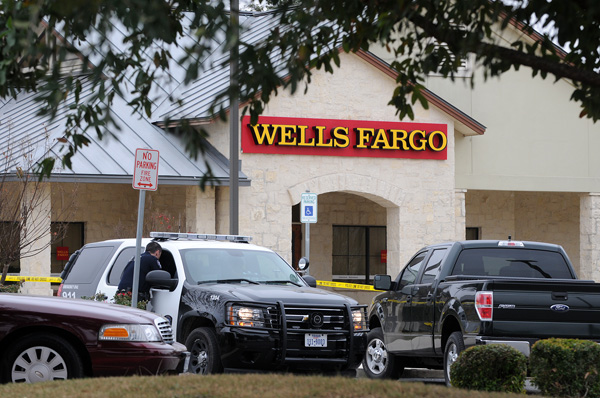 Robbery reported at Wells Fargo