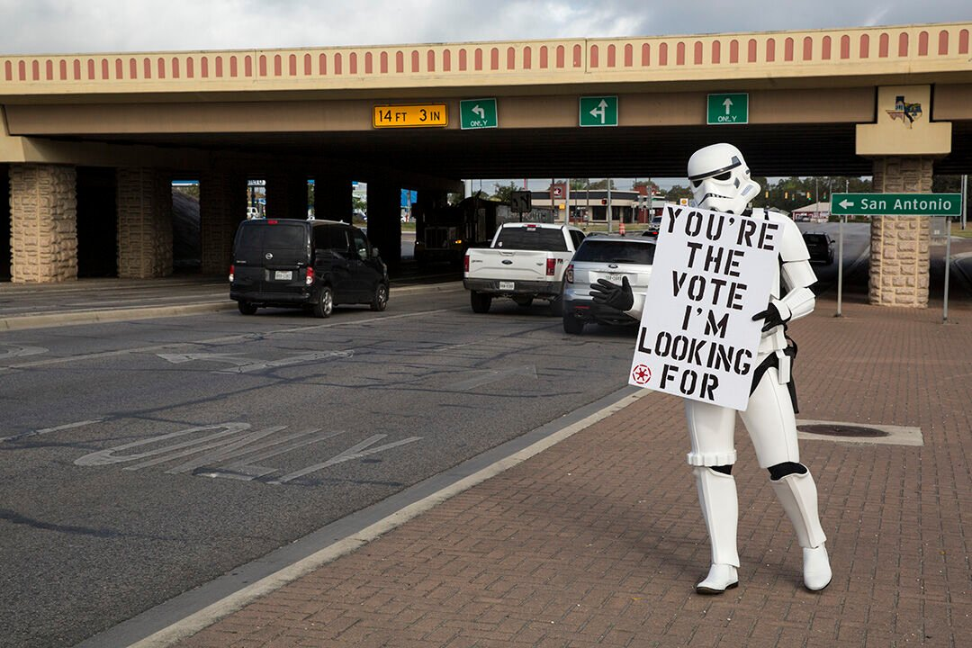 Storm Trooper Voting Encouragement