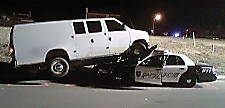 Van crushed