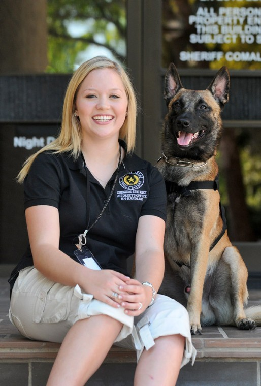 Therapy dog joins County Criminal District Attorney's Office