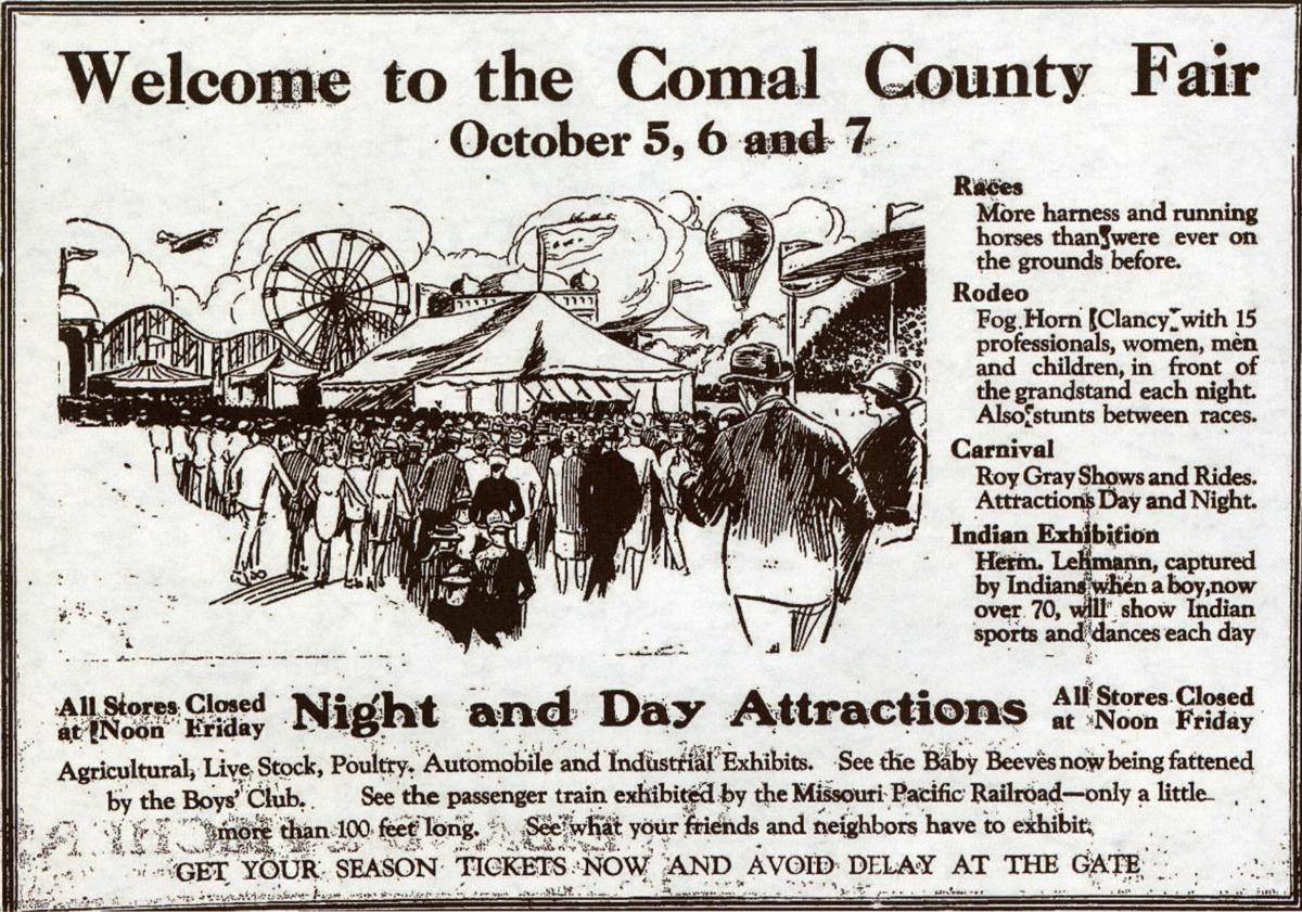 Comal County Fair ad