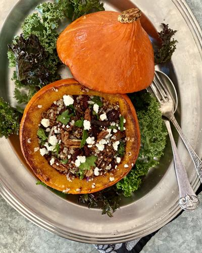 Stuffed Squash With Quinoa and Goat Cheese