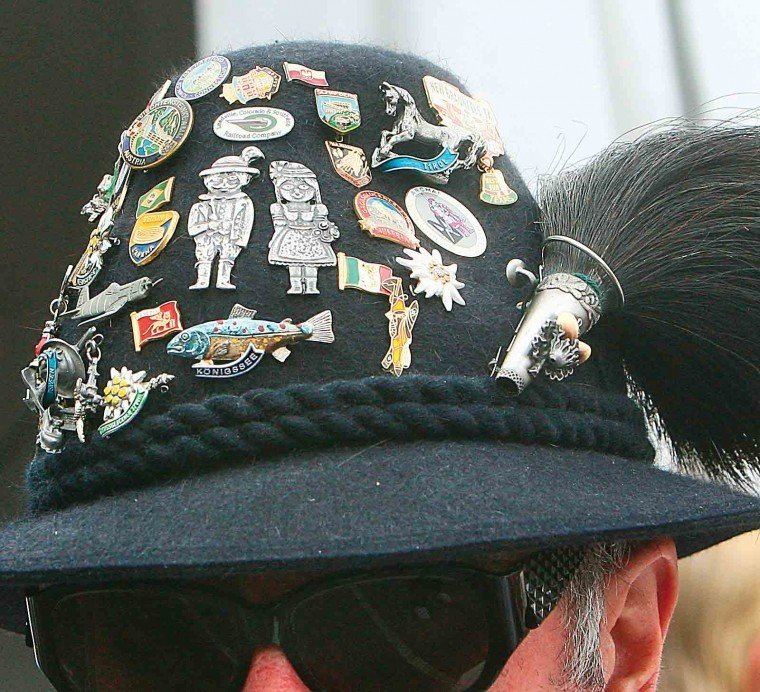 Pins On Beanies: Wurstfest Attendees Show Off Commemorative Hat Pins