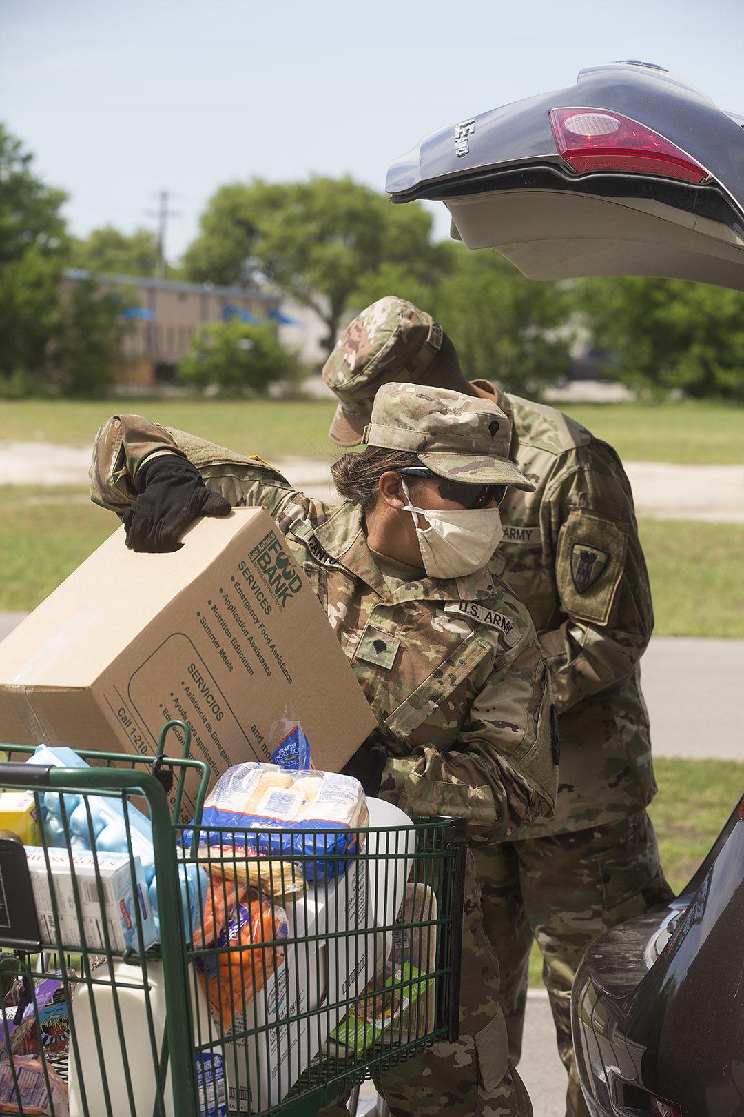 Texas Military Department Volunteers at Food Bank