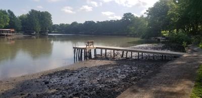 Lake Dunlap draining