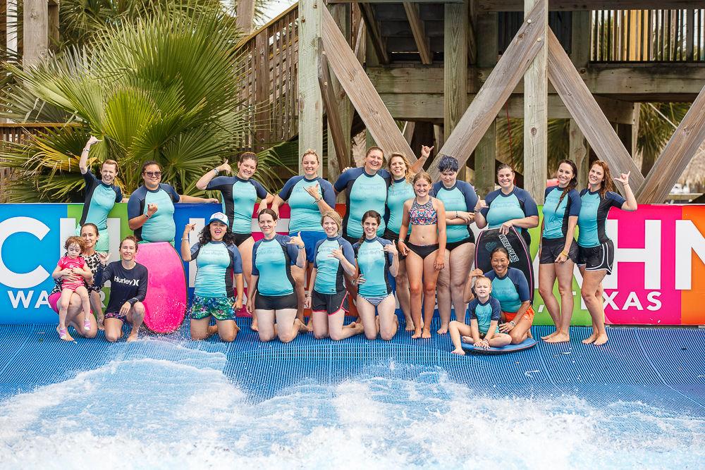 Women learn to surf rash guard