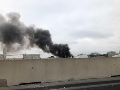 I-35 semi fire