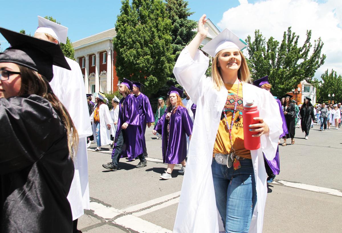 Graduation on parade