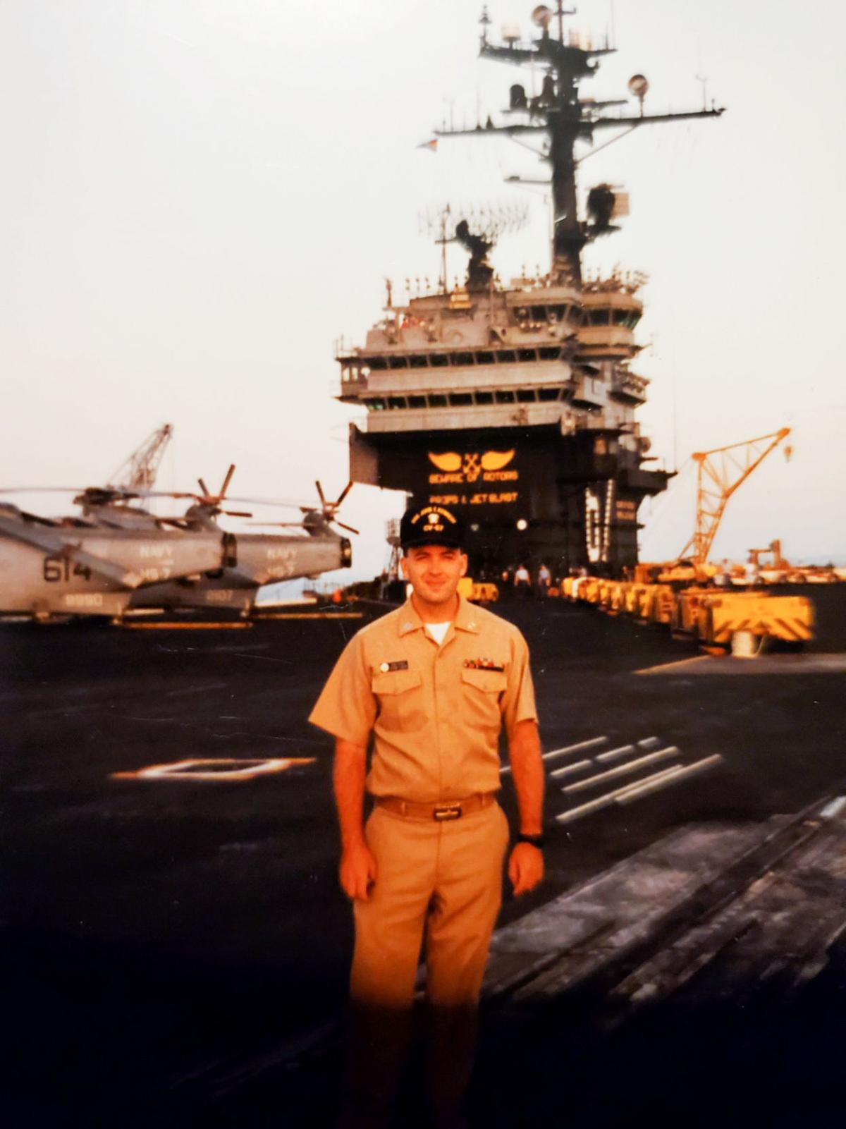 Major General Bunch aboard the U.S.S. John F. Kennedy