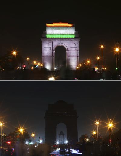 APTOPIX India Earth Hour