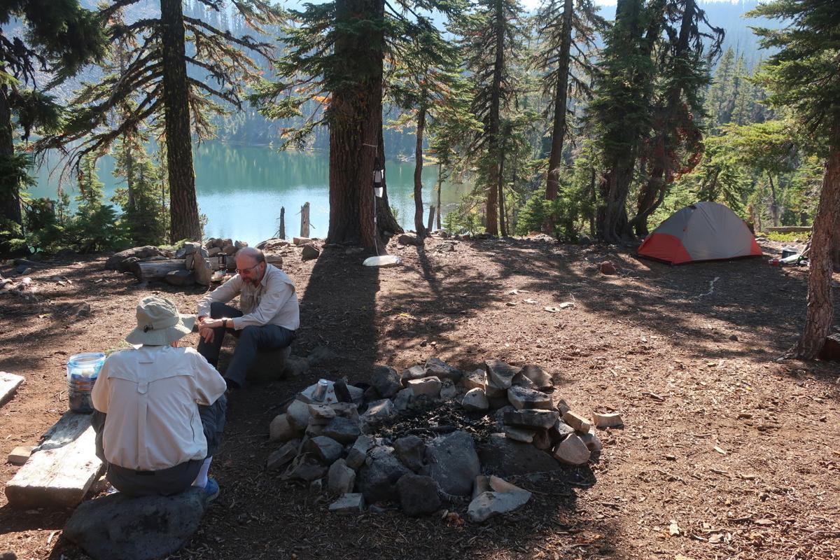 Cliff Lake campsite