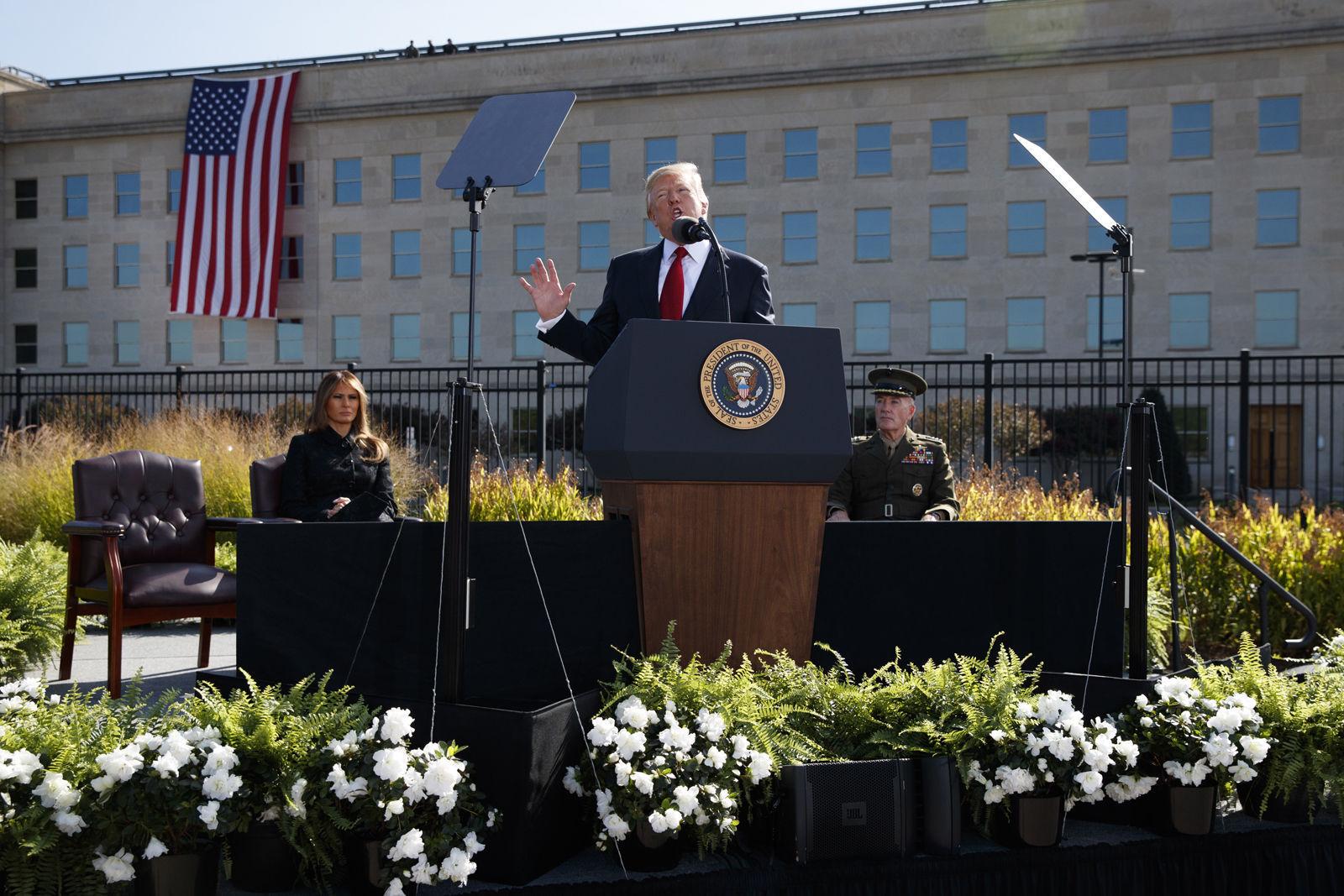 Trump marks 16th anniversary of 9/11 attacks