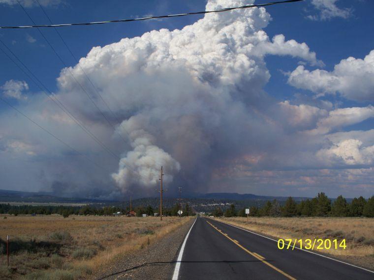 Moccasin Hill fire near Sprague River