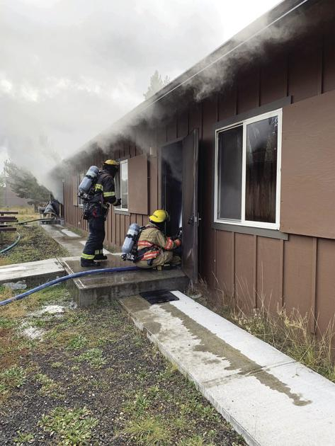 Forest Service bunkhouse building lost to fire