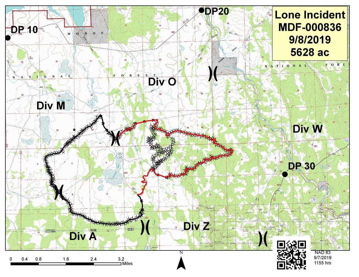 Lone Fire locator map