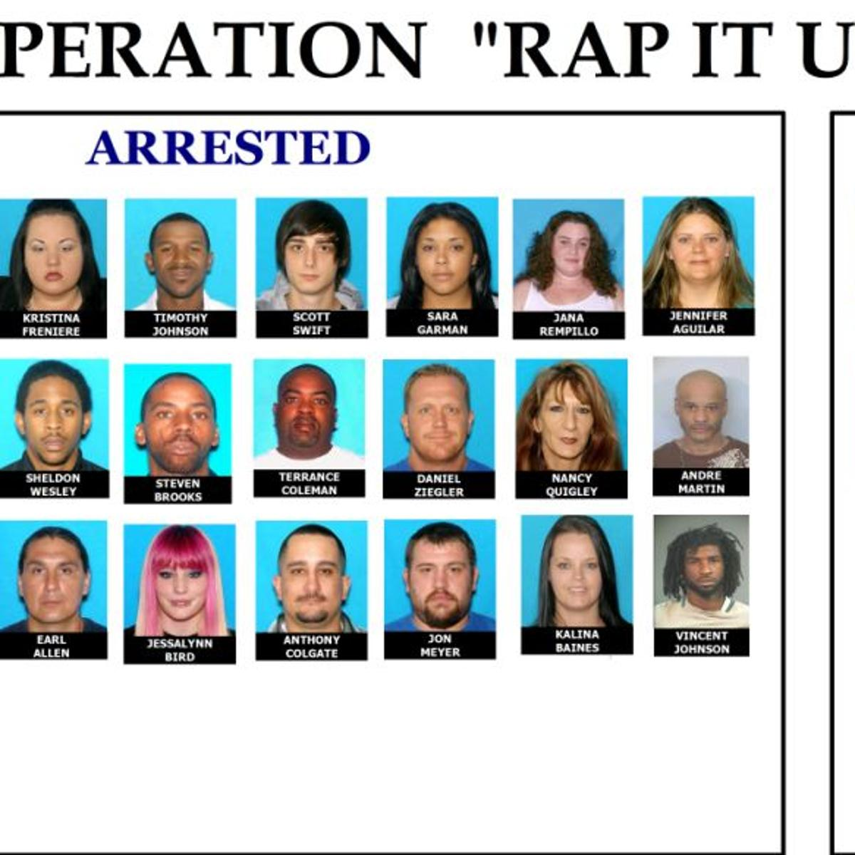 Dozens arrested in state and federal drug and firearms case