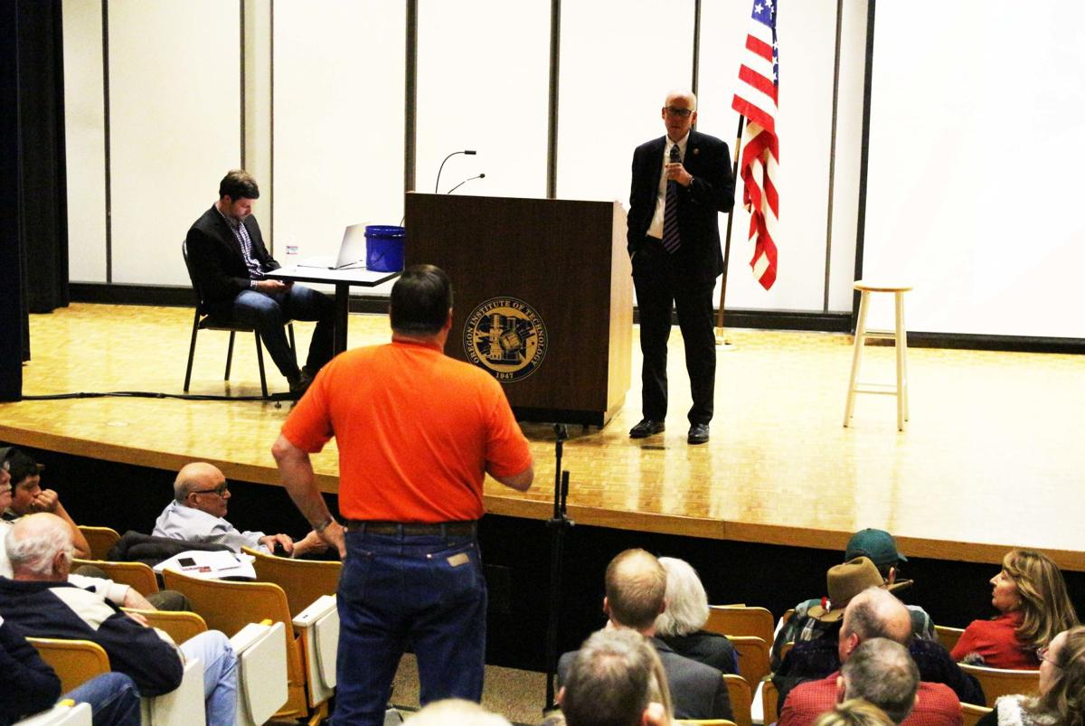 Walden quizzed on top issues at Klamath townhall