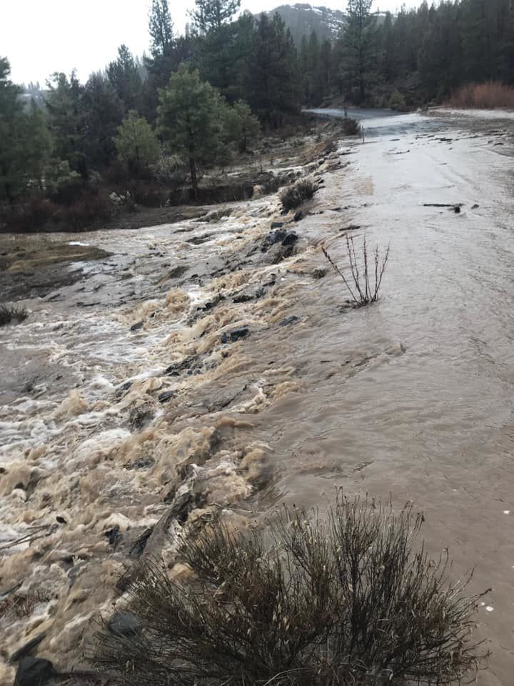 Roads flooding on Fremont-Winema National Forest