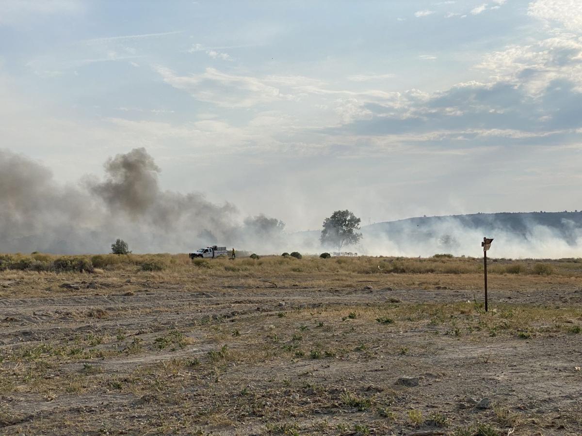 Klamath Falls grass fire human caused