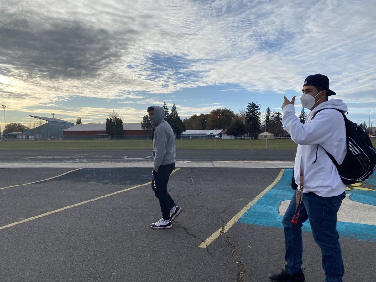 Tulelake High School parking lot