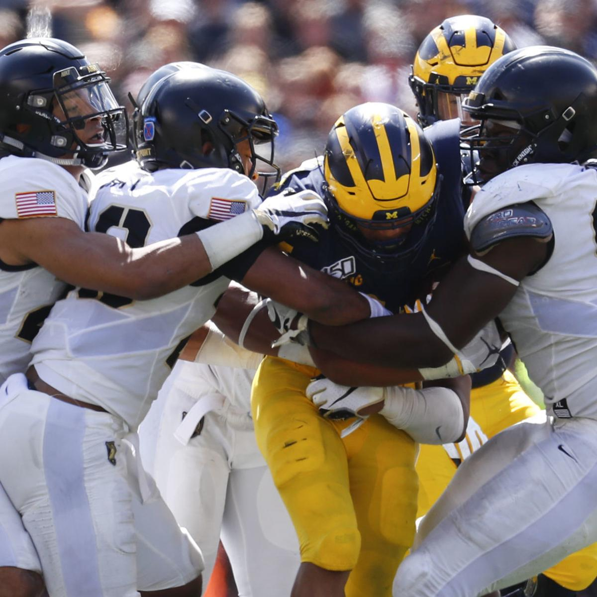 No  7 Michigan holds on to beat Army, 24-21, in 2 overtimes
