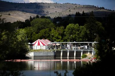 Water crisis info center tent