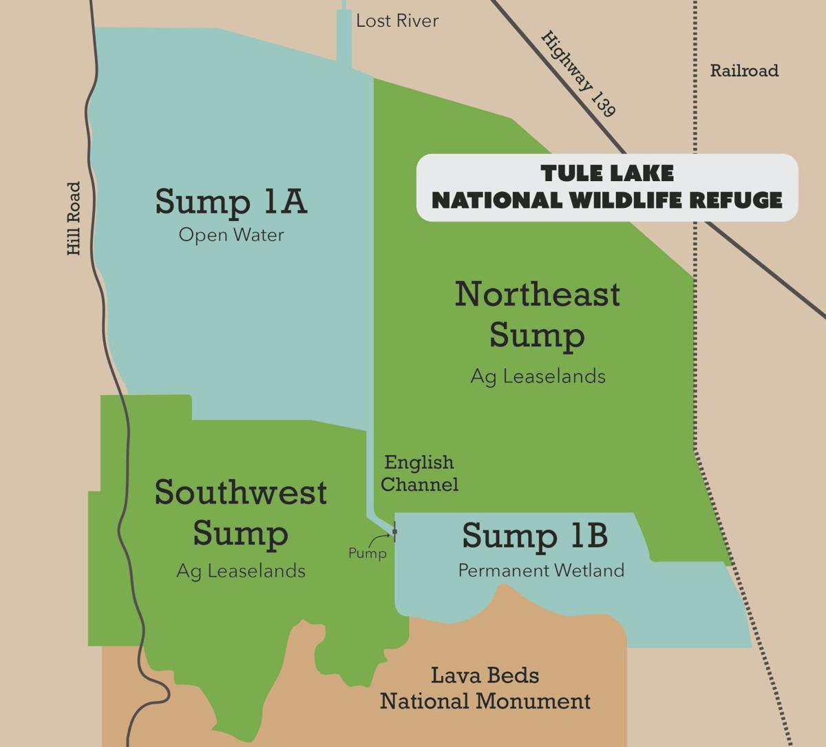 Tule Lake National Wildlife Refuge map