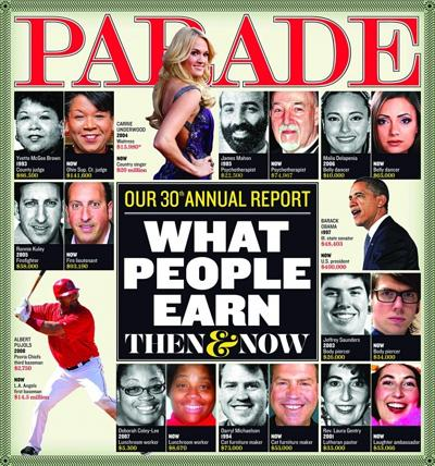 This Sunday in Parade: What People Earn — Then & Now