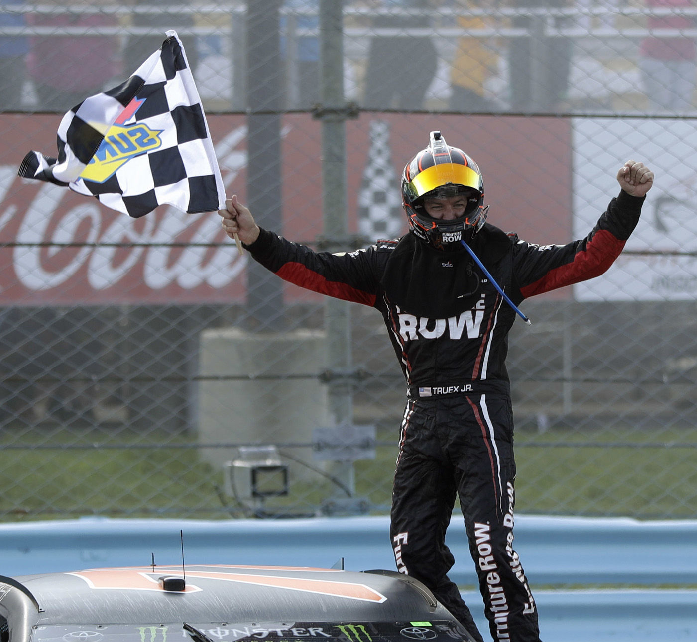 truex wins fuel mileage gamble at the glen national rh heraldandnews com