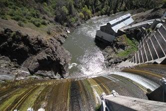 Copco No. 1 Dam on the Klamath River