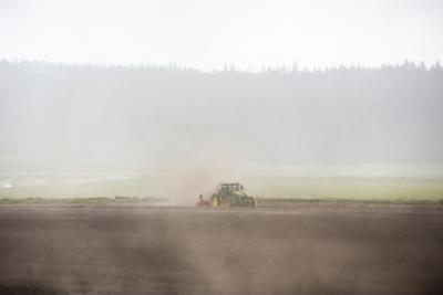 Dusty field, drought