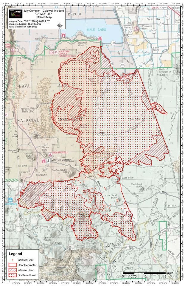 Caldwell Fire map