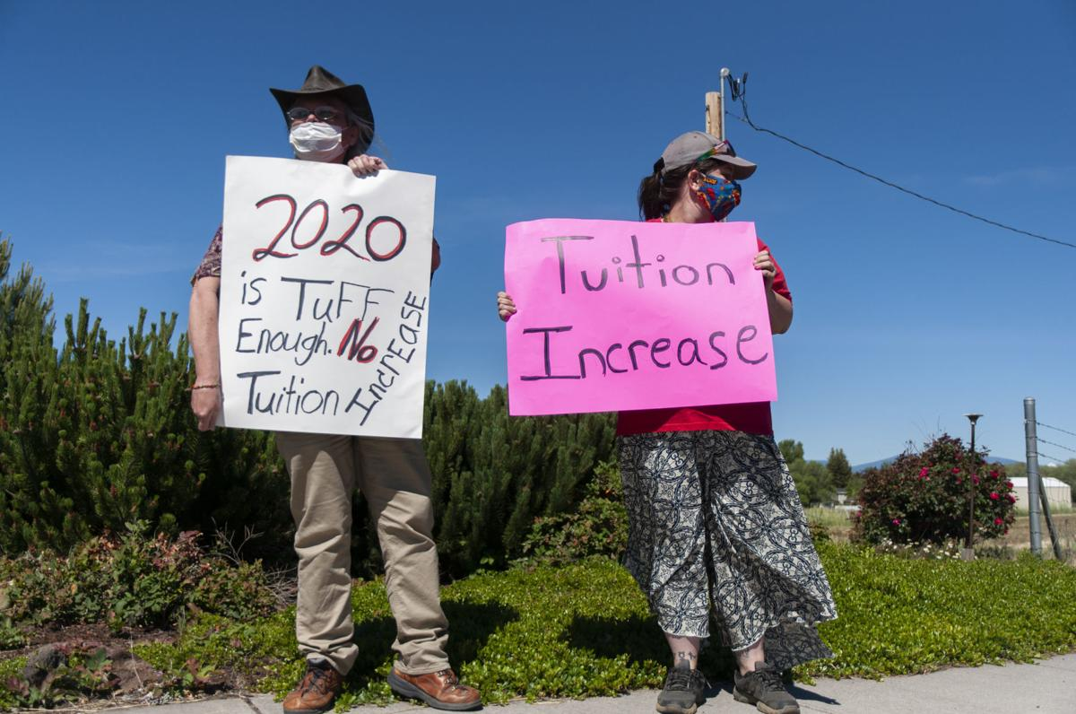 Protesting tuition increase during COVID