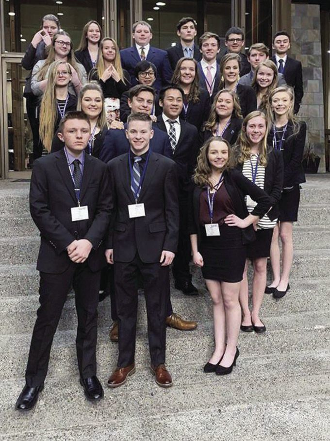 Henley High School DECA team