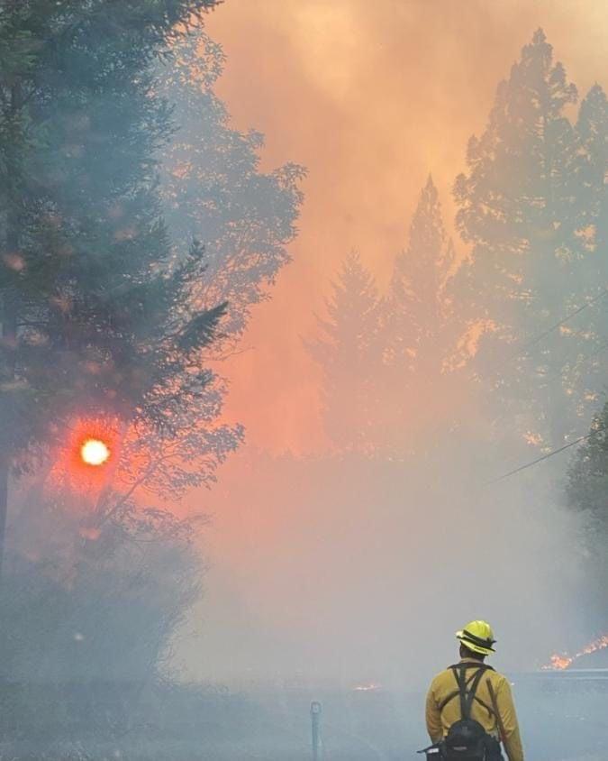 KCFD1 fighting California wildfire