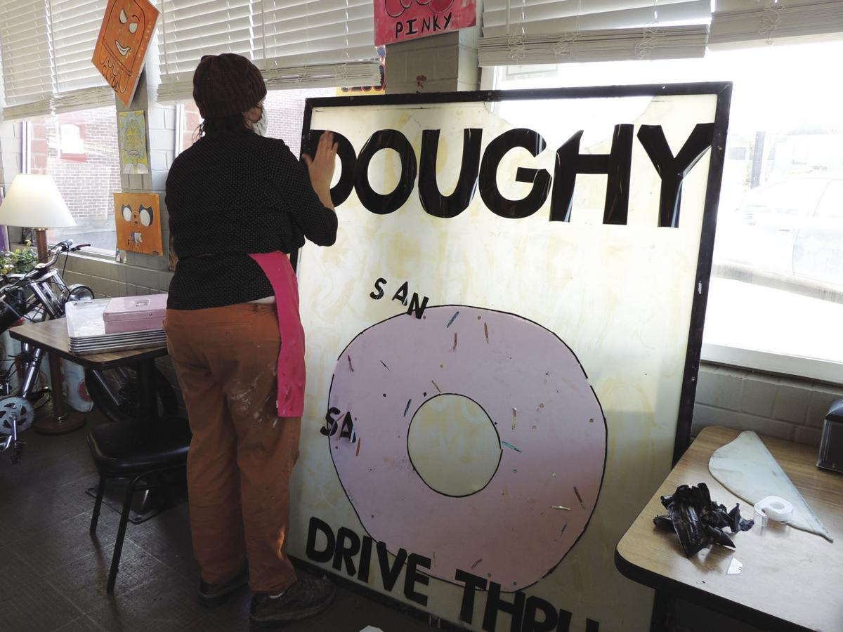 Doughy Donuts sign