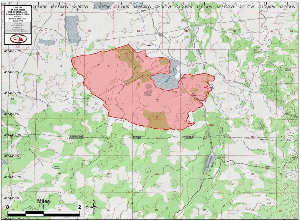 Modoc fire locator map
