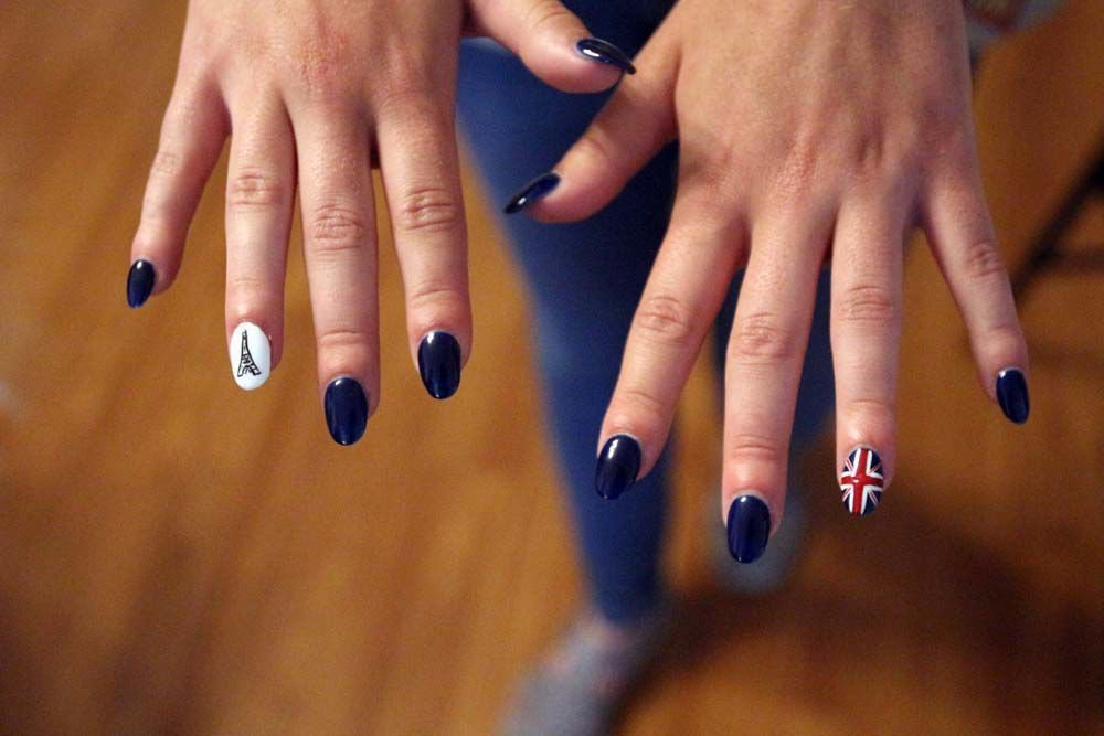 Girl Scout's European-Themed Nails
