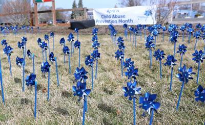 Pinwheel gardens for child abuse prevention
