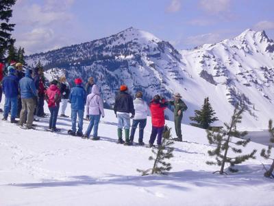 Ranger-led snowshoe walks begin at Crater Lake National Park