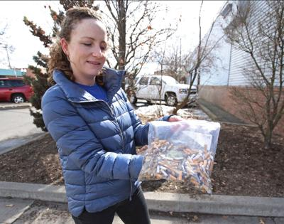 8,300 cigarette butts plucked from downtown