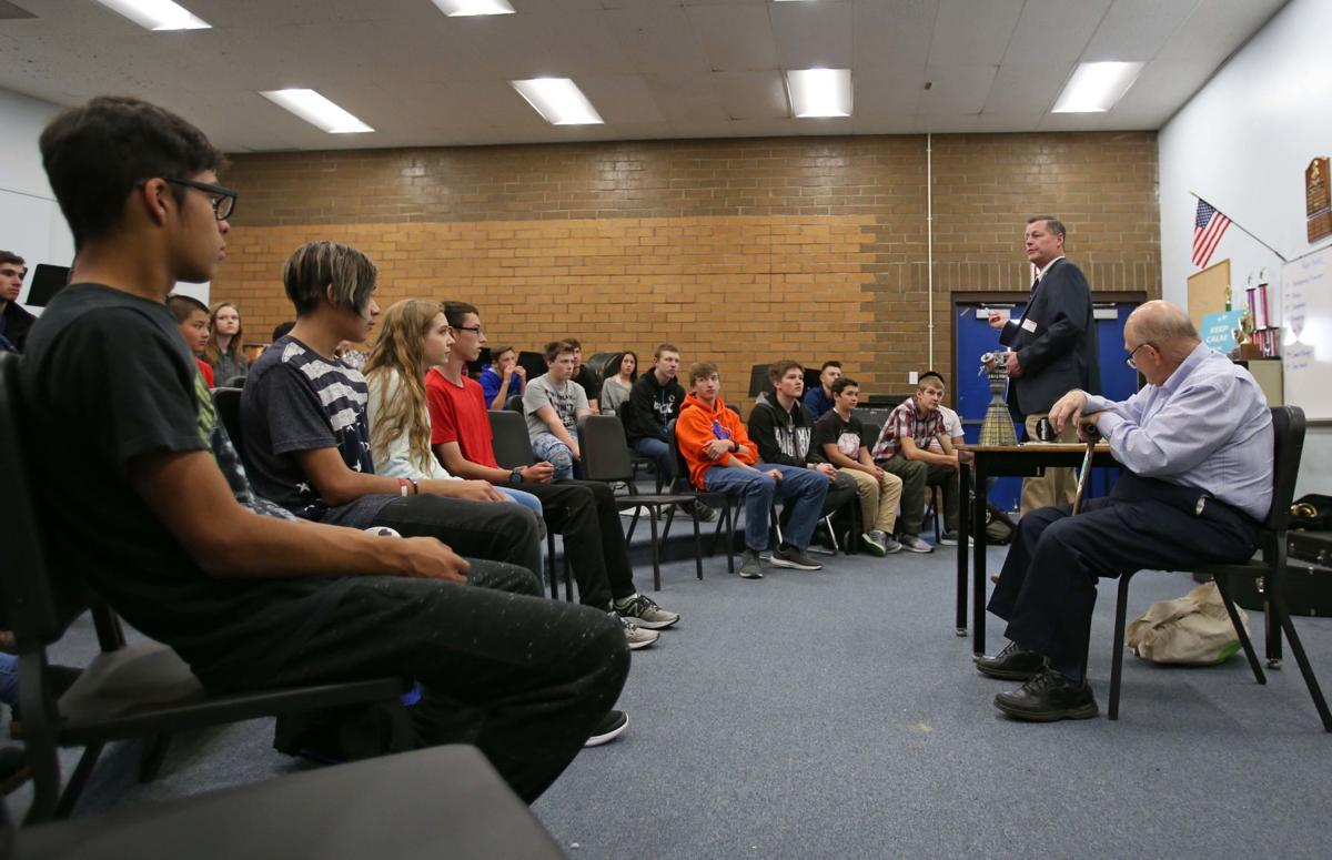 Dr. Norm Chaffee visits Henley High