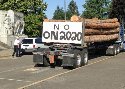 Loggers protest cap and trade bill