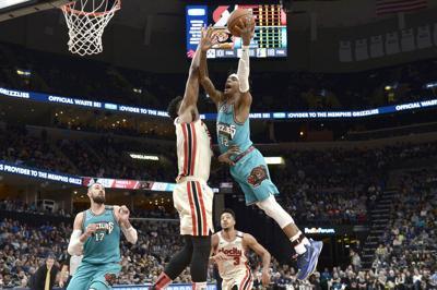 Trail Blazers Grizzlies Basketball