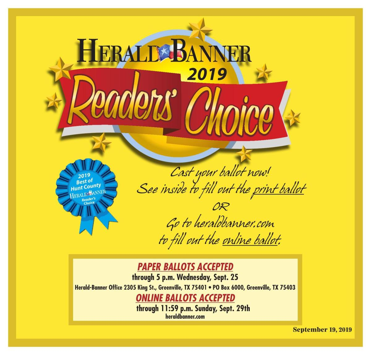 2019 HB Readers Choice Ballot Tab
