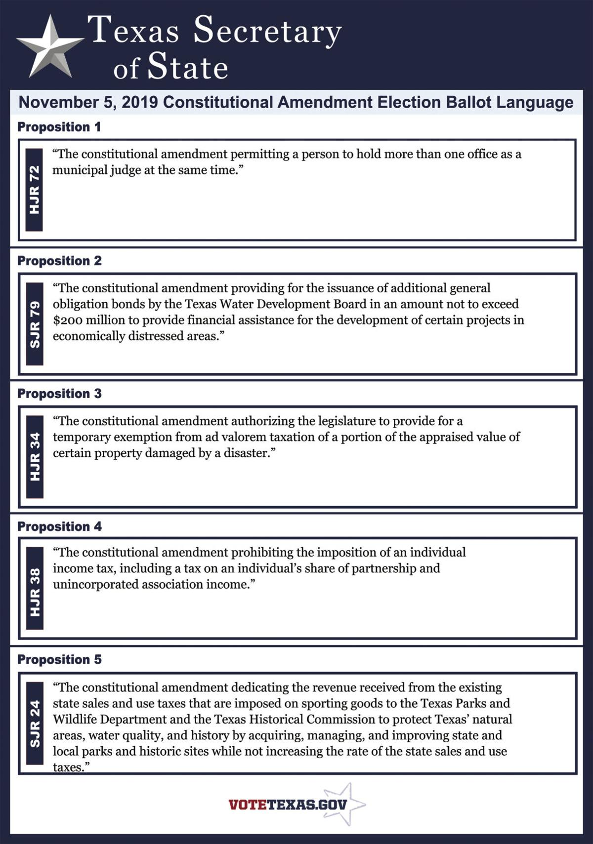 First five propositions