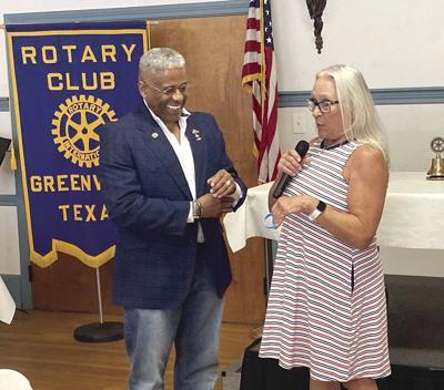 Speaks to Rotary Club