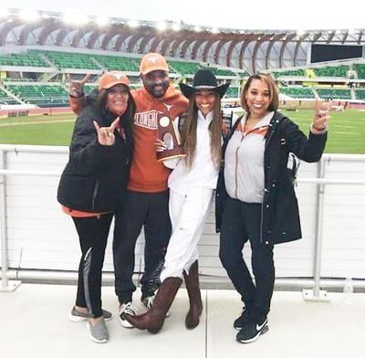 Tara Davis with family at the Olympic Trials